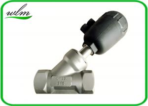 China Hygienic Plastic Angle Seat Valve with Pneumatic Actuator , Thread / Flange Connection on sale