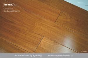 China Natural E0 TEAK Solid Wood Flooring  with 1155 psi Janka Hardness on sale