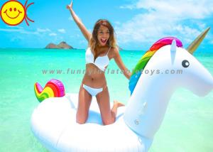 China Animal Inflatable Water Floats Giant Inflatable Pool Unicorn Float Mattress 0.3mm PVC on sale