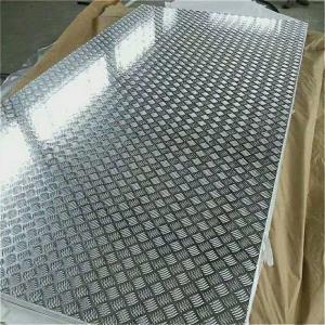 China 18 Gauge Chequred Polished Aluminum Sheet , 6061 Aluminum Checkered Sheet on sale