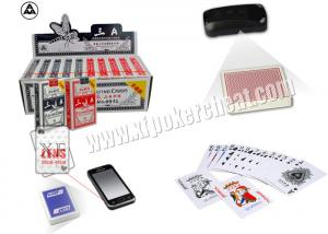 China 3A NO.9912 Paper Marked Poker Cards With Side Invisible Bar Codes , poker cheat card on sale