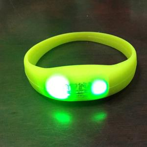 China LED Pulse Remote Control Radio Controlled Silicone Wristband Sound Motion Activated Light Bracelet on sale