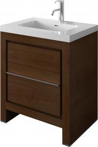 Quality Elegant Oak MDF Bathroom Furniture With Side Cabinet 800 x 25 x 700mm for sale