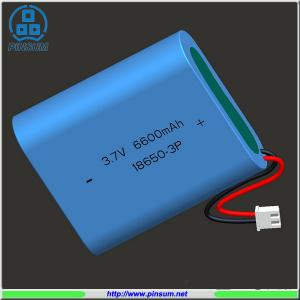 China Lithium battery 18650 battery pack 3.7V 6600mAh for industrial use on sale