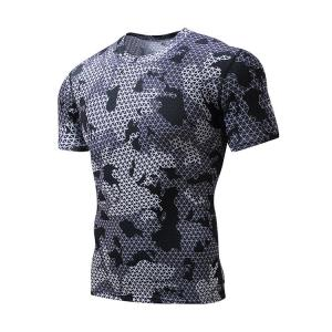China Under Base Layer Mens Short Sleeve Compression Top High Strength Materials on sale