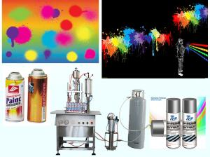 China Graffiti Spray Paint Aerosol Filling and Crimping Machine Semi Automatic on sale