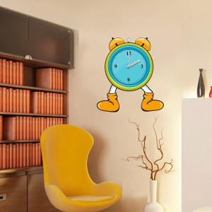 China Funny Cartoon Wedding Decorative Wall Sticker Clock with 3M Removable Vinyl 25A008 on sale