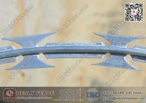 China BTO-22 Hot Dipped Galvanised Concertina Razor Barbed Wire O.D. 600mm on sale