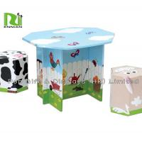 Offset 4 Color Corrugated Cardboard Toys With Foldable Seats And Tables