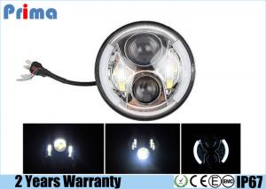 China H4 7 Inch LED Jeep Headlight DRL Halo Angel Eyes High Low / DRL Beam on sale