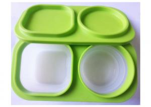 Quality Soft Feeling Silicone Lunch Containers Box Lightweight 3000 Times' Using for sale