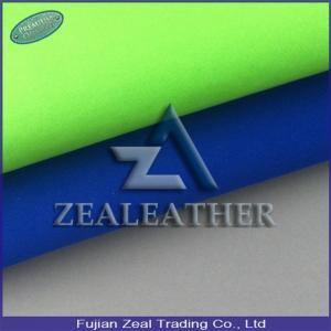 China Good Price Classical Shoe Material PU Nubuck Fabric on sale