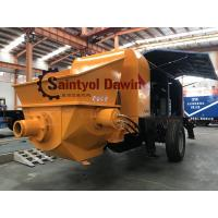 China Powerful 30 m3/hr ~80 m3/hr trailer hydraulic concrete pump with diesel or electric power on sale