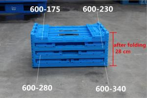 China 600*400*340  Mesh type  Food grade Plastic Returnable  Collapsible Folding Crates on sale