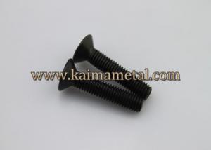 China Carbon steel black flat head machine screws on sale