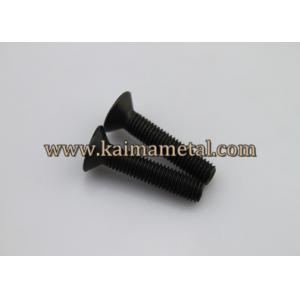 China Carbon steel black flat head machine screws on sale