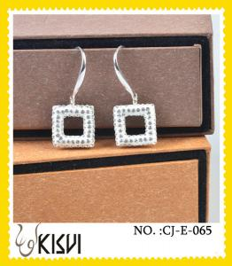 China 2012 newe fashion design handcrafted crystal jewelry / earrings with factory price on sale