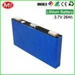 High discharge rechargeable lithium ion battery 3.7V 26Ah lithium battery for solar system