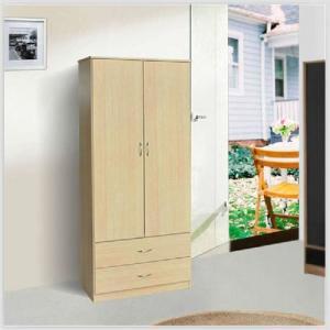 China UV Coated Melamine Bathroom Cabinets , Lacquer Surface Birch Plywood Wardrobe on sale