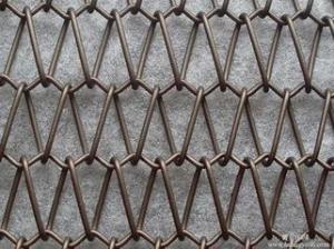 China le rideau en fenêtre en aluminium de tissu de fil de gril de maille a augmenté le bout droit perforé par maille on sale