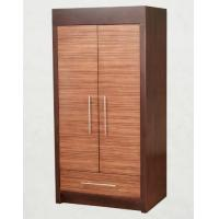 China Wooden Two Door Wardrobe Storage Closet With Drawers For Hotel Bedroom on sale