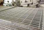 Anti Slip Mild Steel Steel Platform Grating , Hot Dipped Galvanised Steel Grate
