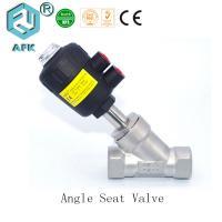 China 2 Way 2 Position Pneumatic Angle Seat Valve , Pneumatic Manual Control Valve on sale