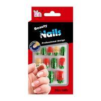 Full Cover Artificial Salon Fake Nails Fruit Printing Cartoon False Nail