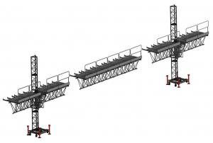 China Mast Suspended Access Platform Climbing Aerial Work With Single Cage Or Double Cage on sale