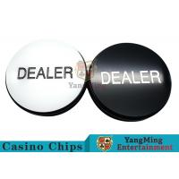 China Texas Sculpture Poker Blind Buttons With Black And White Double - Sided Design on sale