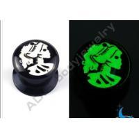 China UV Acrylic Glow In Dark Threaded Tunnel Ear Tunnel Piercings Jewelry on sale
