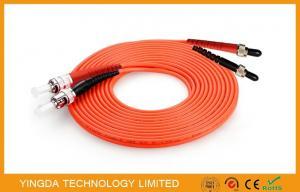 China SMA905 ST / UPC Multimode Fiber Optic Patch Cord , Mm DuplexFiber Optic Jumper on sale