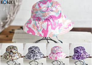 China Camouflage Printing Custom Caps Hats Nylon Fabric Floral Bucket Hat on sale