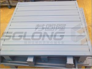 China Waterproof Galvanized Powder Coating Steel Metal Pallets Single Faced Eco-Friendly on sale