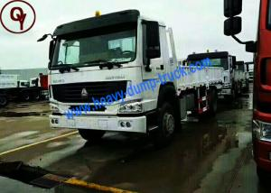 China CNHTC Double Cab Heavy Load Truck , 4x2 6 Wheels Heavy Commercial Trucks on sale