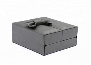 China ROHS Leather Jewelry Packaging Boxes , Mirrored Jewellery Box For Travel on sale