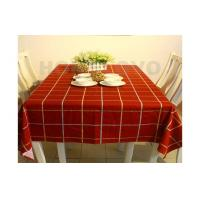 Printed Square Waterproof Restaurant Table Cloth For Wedding , Party , Hotel