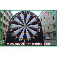 5m Height Inflatable Sports Game 0.55mm PVC Football Darts Board For Playing