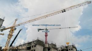 China Bigger Tower Crane TC 7550 Fixed Base Foundation Remote Control on sale