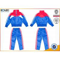 New school uniform design blue and red color 100% polyester custom school uniform for teachers and students