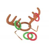 No - Toxic Inflatable Kids Toys Reindeer Antler Ring Toss Hat Game For Christmas Holiday Party