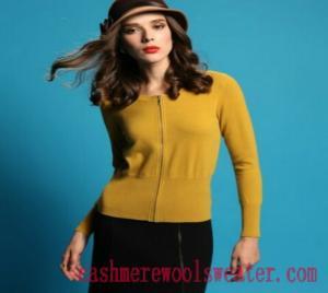 China Crew Neck Cardigan Lady Cashmere Sweater on sale