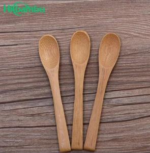 China High quality cheap 100 % Natural Organic Reusable Bamboo ice cream spoon bamboo fork set on sale