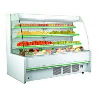 China Three Shelves Cooler Multideck Open Display Refrigerator R404 / R22 Refrigerant on sale