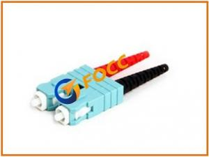 China Standrad SC Fiber Optic Connector Polish Type PC Duplex Multimode Fiber on sale
