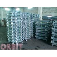 China Stacking Collapsible Steel Wire Mesh Pallet Cage For Warehouse Storage on sale