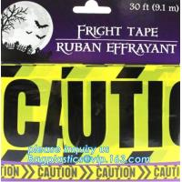 Halloween Birthday Party theme warning caution PE tapes for event decoration,Halloween Caution Tapes,Halloween Warning T