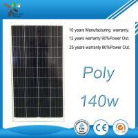 140Wp 10.2Kg Polycrystalline Solar Panels 100 Watt For Street Light System