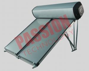 China Compact Swimming Pool Solar Water Heater Flat Plate Black Chrome Coating on sale