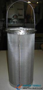 China Stainless Steel Basket Filters/Strainers With Polished Treatment on sale